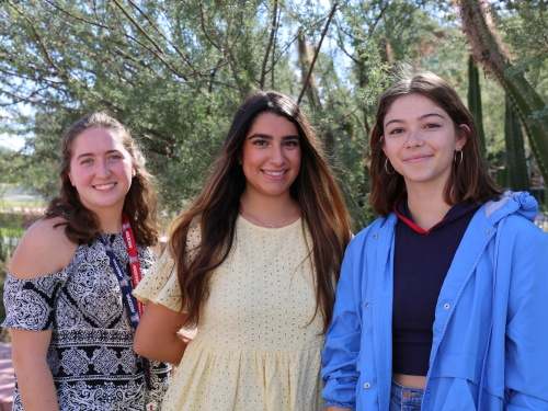 Madalyn Hensel, Elle Nangia and Samantha Moran